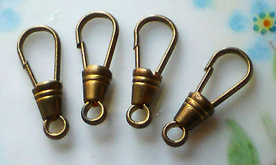 Vintage Watch Fob Clasps Clips Antique Brass Ox Steampunk Fobs Clasp NOS #1252J