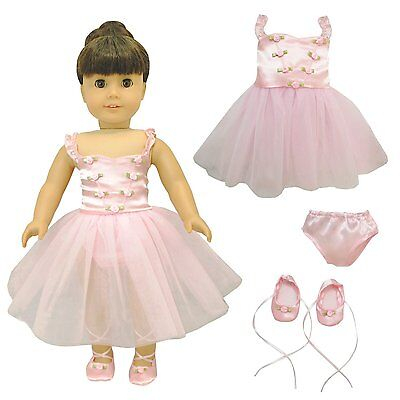 Doll Clothes Ballet Ballerina Outfit Fit American Girl & Other 18 Inch Dolls New
