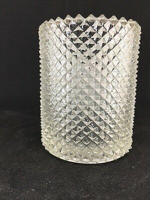 Vintage or Antique FAROY Vaseline Glass Toothpick, Match or Votive Candle Holder