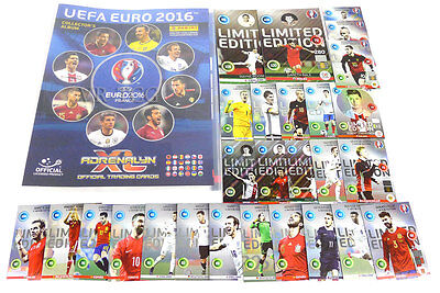 Adrenalyn XL PANINI UEFA EURO 2016 FULL SET COMPLETE ALBUM 459 cards +27 LIMITED