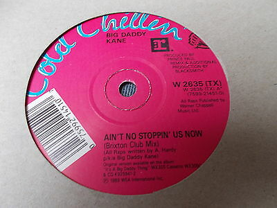 """Big Daddy Kane Ain't No Stoppin' Us Now 12"""" Cold Chillin' 1989"""