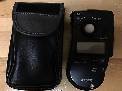 Sekonic Light Meter Model L-408 with Carry Case