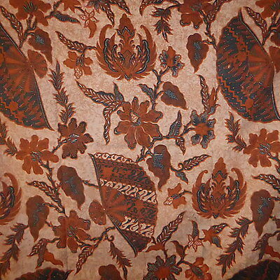 Vintage Java Batik Fabric  ~ Very soft Cotton ~ Fan Pattern ~ 2 meters ~  B123