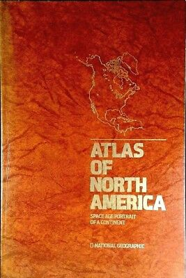 1985 Atlas of North America - National Geographic Large Maps USA Paperback Book