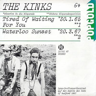 The KINKS - Tired Of Waiting For You / Waterloo Sunset  7""