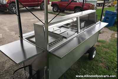 All in one Food Cart - Hot dogs Hamburgers Tacos Fries &More Stainless Steel New