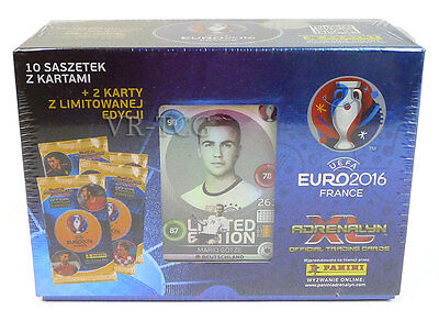 PANINI UEFA EURO 2016 GIFTBOX 10 booster pack + 2 LIMITED EDITION