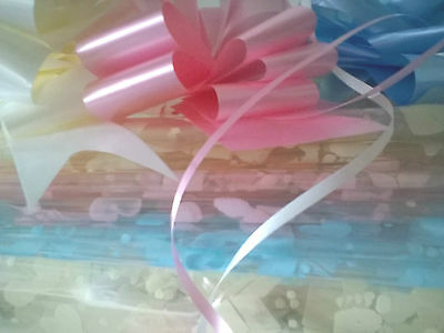Mums New Arrivals Baby Print Blue Pink Ivory Cellophane Wrap