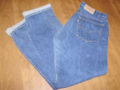 VINTAGE LEVIS 501 XX BLUE JEANS DENIM JEANS fit like a 32 X 32 MADE IN USA