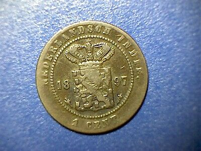 1897 Netherlands East India Cent - F