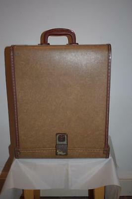 Stunning Vintage Brown Large Traveling Hat Box Case With Working Lock No Keys