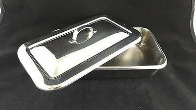 """VOLLRATH Stainless Steel - medical - dental Instrument Tray w/Lid - 8.75""""x5""""x2"""""""