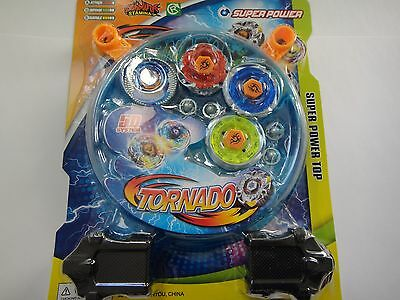 4D Lian Fa Metal Fusion Beyblade Clash Tornado Super Power Top Set Brand new