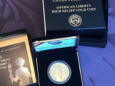 2015 Gold High Relief Liberty Us Mint .9999 Fine 1 Oz With Box And Certificate