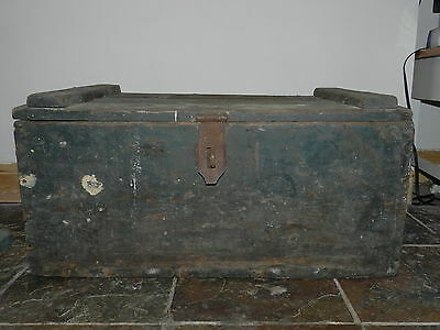 Antique Pine Chest Blanket Box Coffee Table