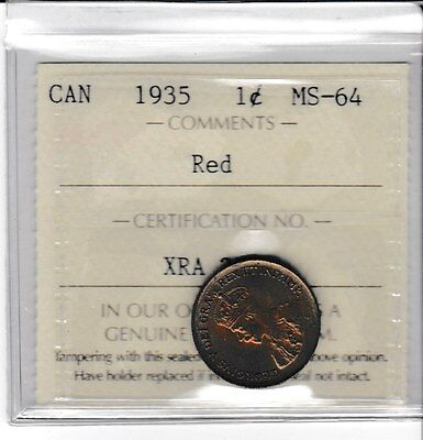 Canada 1935 1 Cent small penny ICCS MS-64