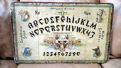 Rare Antique Hasko Mystic Board, Egyptian Theme - Queen Cleopatra - Ouija WeeJi