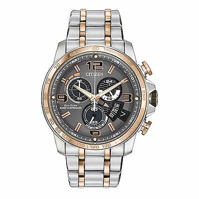 Citizen Eco-Drive Men's BY0106-55H A-T Atomic Chronograph Two-Tone 44mm Watch