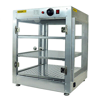 S&D Commercial 20x20x24 Countertop Food Pizza Pastry Warmer Display Cabinet Case