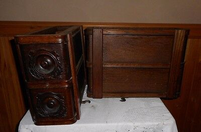 4 Vintage  Singer Treadle Sewing Machine Drawer With Frames