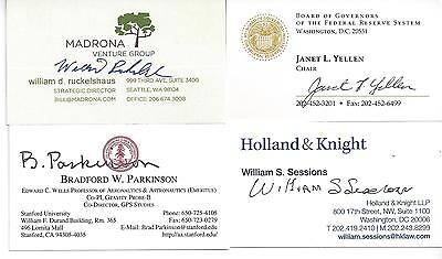 Former Director Of Epa And Fbi William Ruckelshaus Signed Business Card