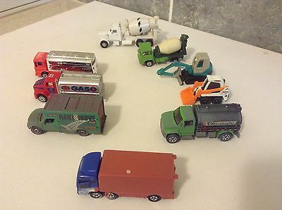 TRUCKS, and EARTH MOVING MACHINERY  - NINE (9)  UNITS -  MOSTLY HO Scale
