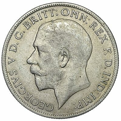1921 Florin - George V British Silver Coin - Nice