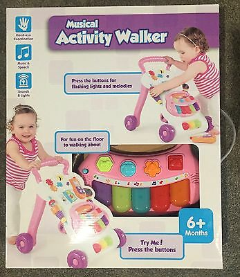 Musical Activity Walker Baby Kids 6+ Months Brand New in Box!