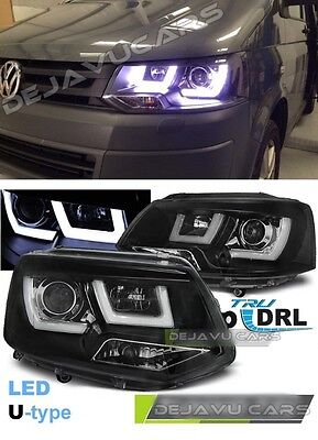 VW T5 GP Scheinwerfer Xenon LED TFL Facelift Black Edition Voll Schwarz T6 Optik