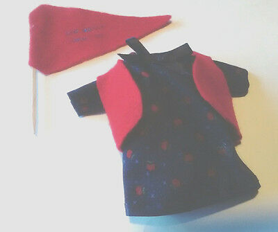 "Red and Navy Dress and Pennant Fits Madame Alexander 8"" Doll"