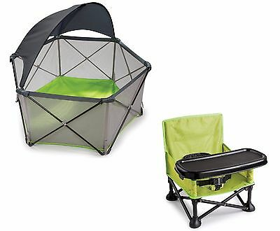 Summer Infant Beach Chair Playard Canopy Toddler Camping Portable Booster Bundle