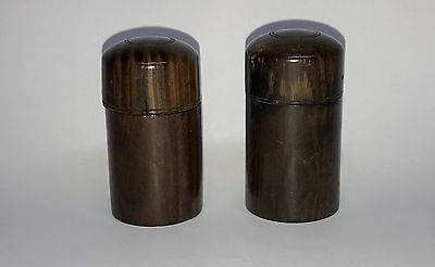 Antique Mid-19Th Century Wooden Traveling Inkwell  Pair