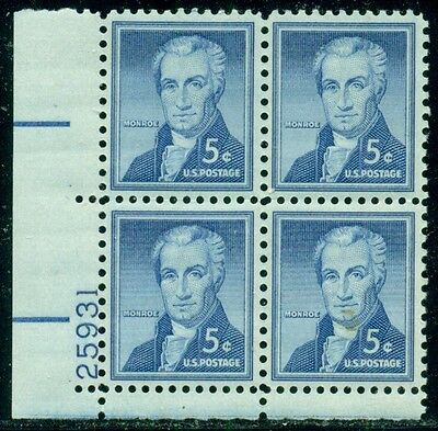 Scott # 1038 Plate Block, Mint, Og, Nh, Great Price!