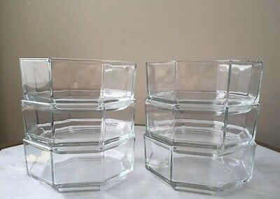 Luminarc Arcoroc France OCTIME CLEAR Six Small Bowls