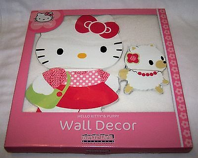 Hello Kitty Puppy Wall Hanging BedTime Originals Decor Pink White New