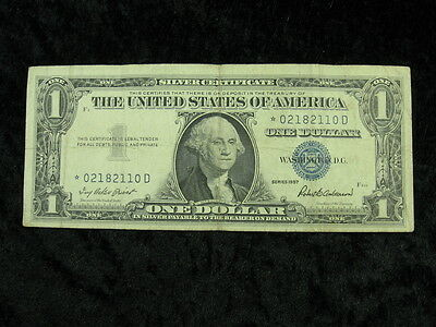 1 old note lot UNITED STATES $1 dollar Silver Certificate Star Note 1957 110