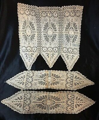 AMAZING 1800s Chemical Lace Jabot & Cuffs. Doll Scale, GORGEOUS! L@@k Mark Down!
