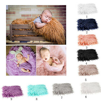 DIY Baby Photo Props Newborn Photography Soft Fur Quilt Photographic Mat