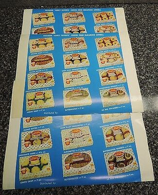 Maurice Lenell's Cookies Promotional Flyer 1960's 3x