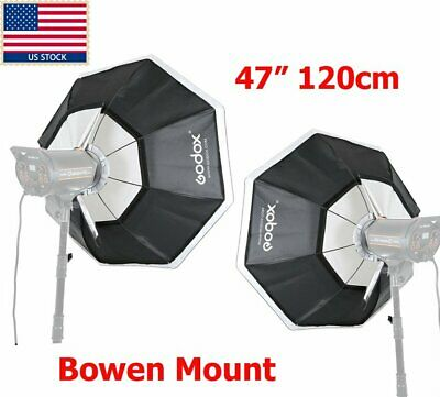 "US 2x Godox Octagon Softbox 120cm 47"" Bowens Mount for Studio Strobe Flash Light"