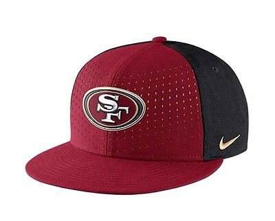 2f240e5b119 NIKE NFL SAN FRANCISCO 49ers Laser Pulse True Hat Adult Snapback Cap  Adjustable