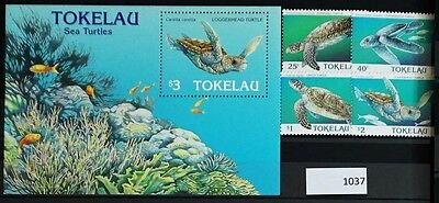 S0 1037 lizards, Reptiles Tokelau MNH 1995 Turtles