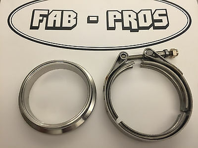 Downpipe V-band Flange and Clamp for Borg Warner EFR Turbo Discharge 304SS Vband
