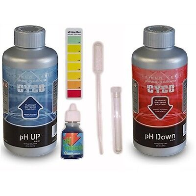 Cyco pH Test Kit with Drop Test, pH Up 250ml, pH Down 250ml and Pipette