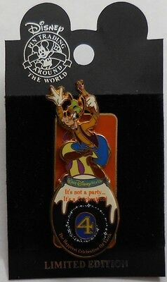 Disney Pin WDW Happiest Celebration On Earth 4 Days to Go Goofy Pin LE1500