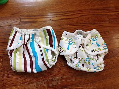 Thirsties Duo Covers - Size 1 (0-9 Mos, 6-18 Lbs), Snap Closure, Lot Of 2