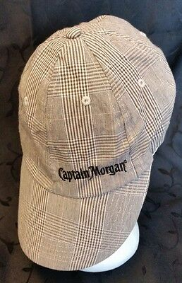 Captian Morgan Rum Check Plaid Cap Hat Flex Fit