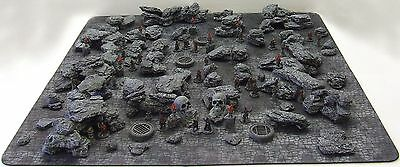 Mega  'rock & Boulder Pack' - Fantasy Terrain - Painted To Collector's Standard