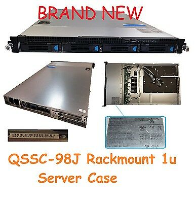 Lot of 2 Quanta S98J QSSC 1U Rackmount Server Case 4 X 3.5 Hotswap Bay S98J-C2