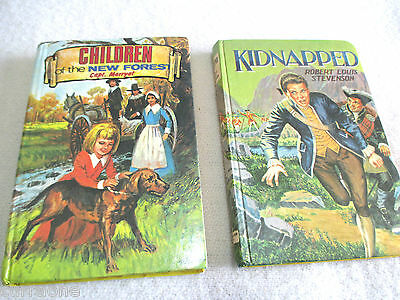 KIDNAPPED plus CHILDREN OF THE NEW FOREST two books vintage HC C1966